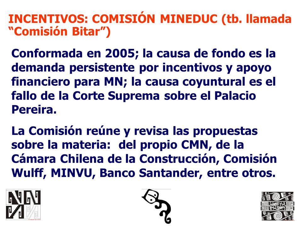 INCENTIVOS: COMISIÓN MINEDUC (tb. llamada Comisión Bitar )