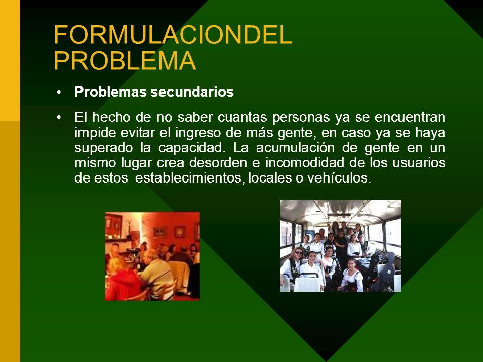 FORMULACIONDEL PROBLEMA