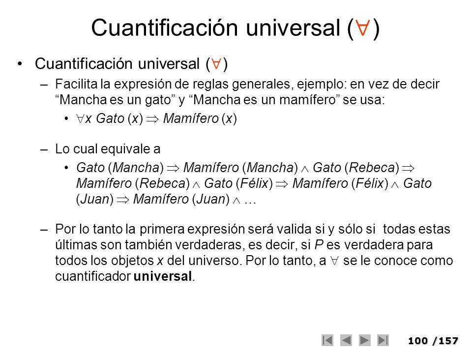 Cuantificación universal ()