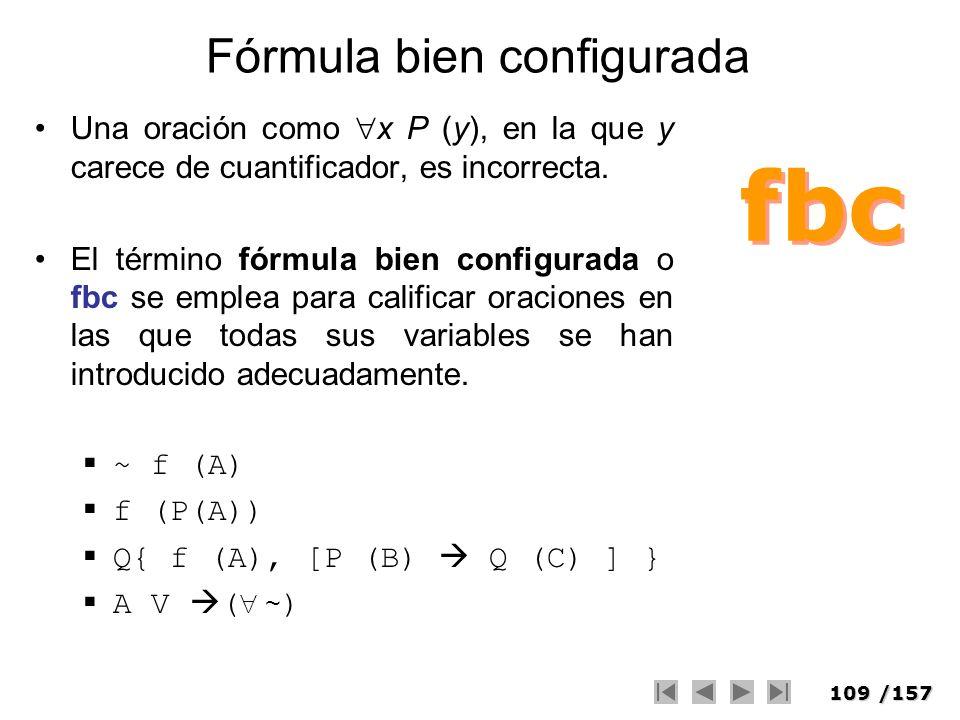 Fórmula bien configurada