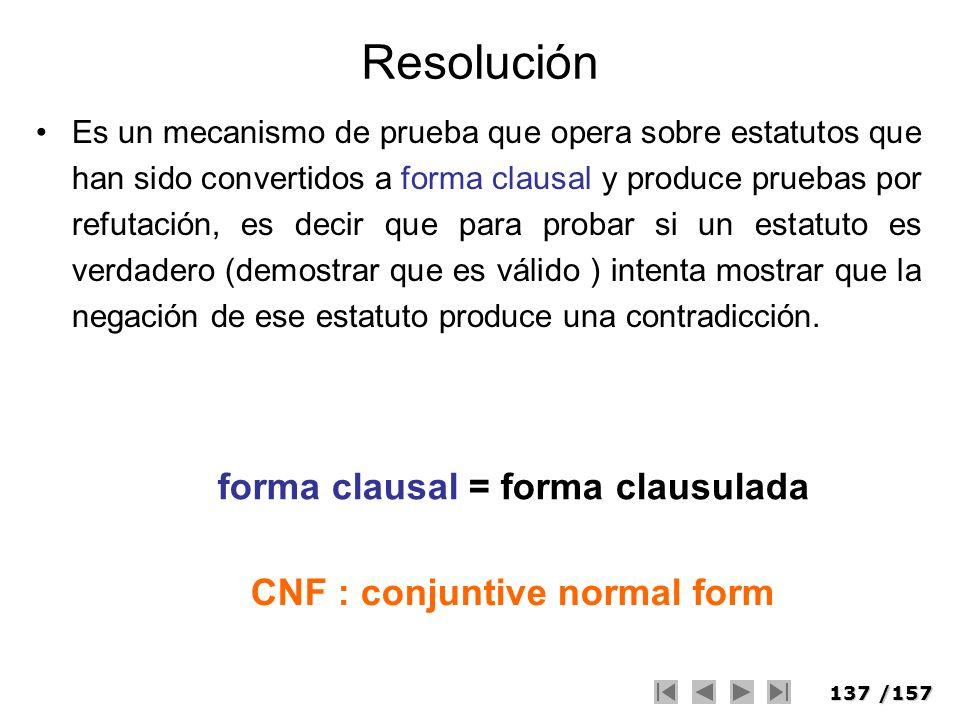 Resolución forma clausal = forma clausulada