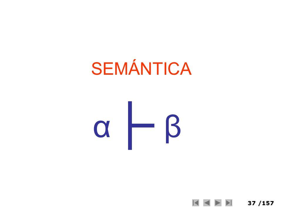 SEMÁNTICA α β