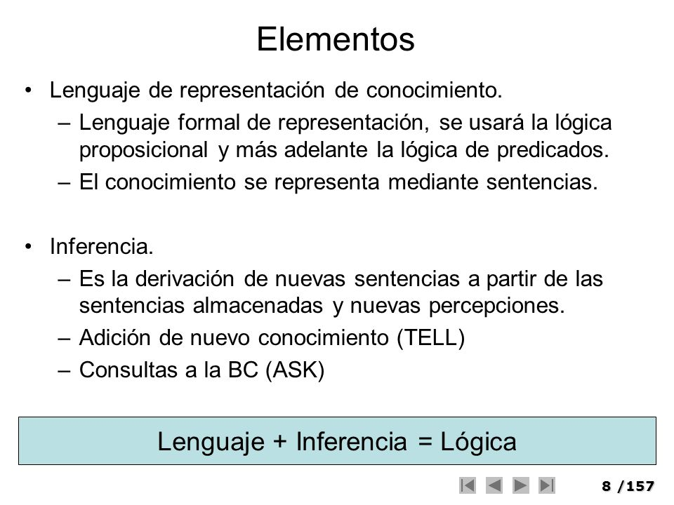 Lenguaje + Inferencia = Lógica