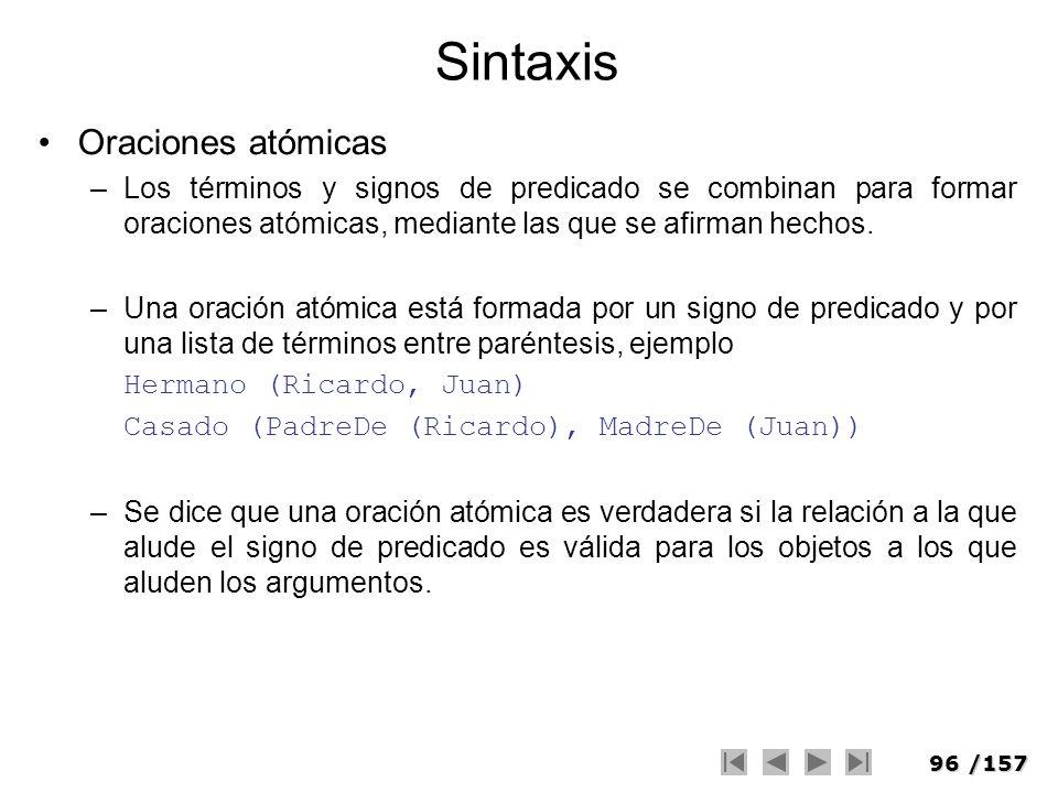Sintaxis Oraciones atómicas