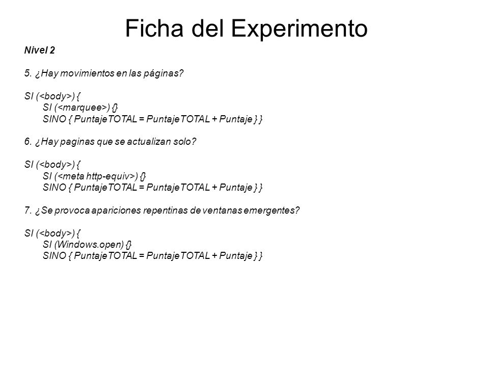 Ficha del Experimento Nivel 2 5. ¿Hay movimientos en las páginas