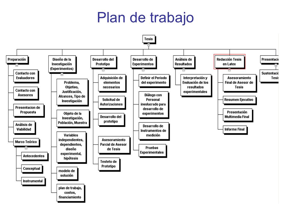Plan de trabajo En riesgo