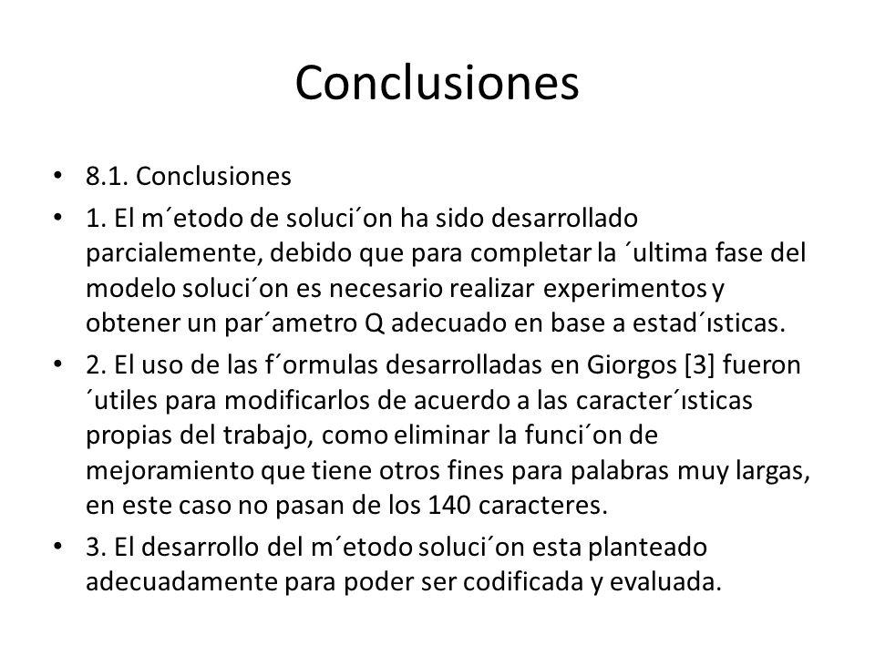 Conclusiones 8.1. Conclusiones