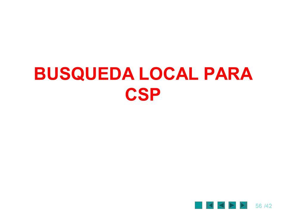 BUSQUEDA LOCAL PARA CSP
