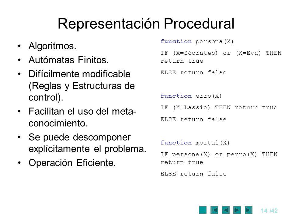 Representación Procedural