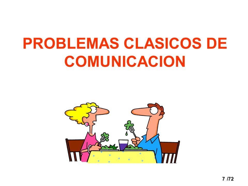 PROBLEMAS CLASICOS DE COMUNICACION