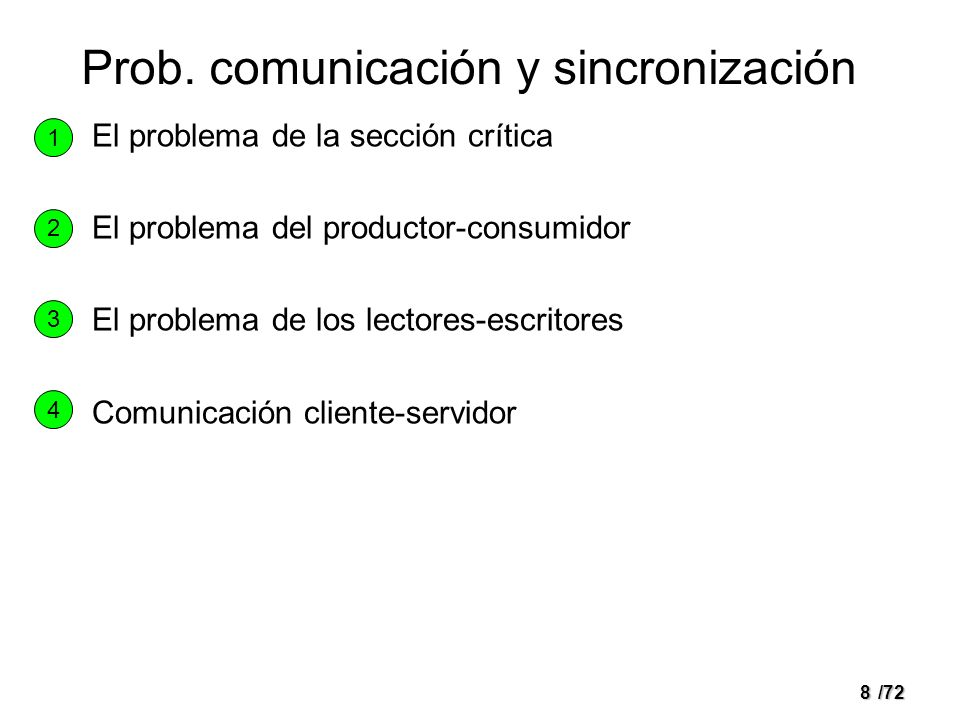 Prob. comunicación y sincronización