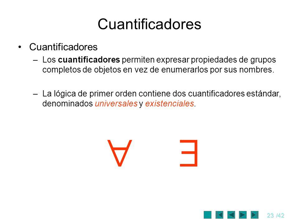   Cuantificadores Cuantificadores