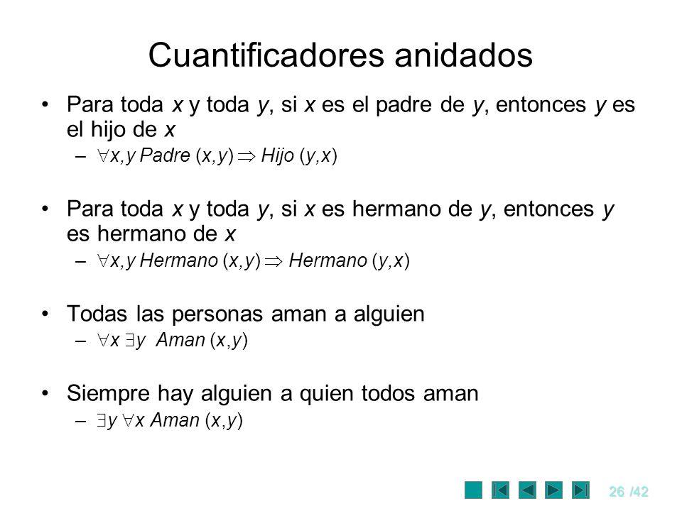 Cuantificadores anidados