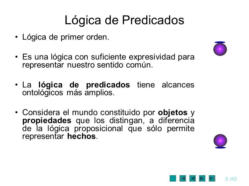 Lógica de Predicados Lógica de primer orden.