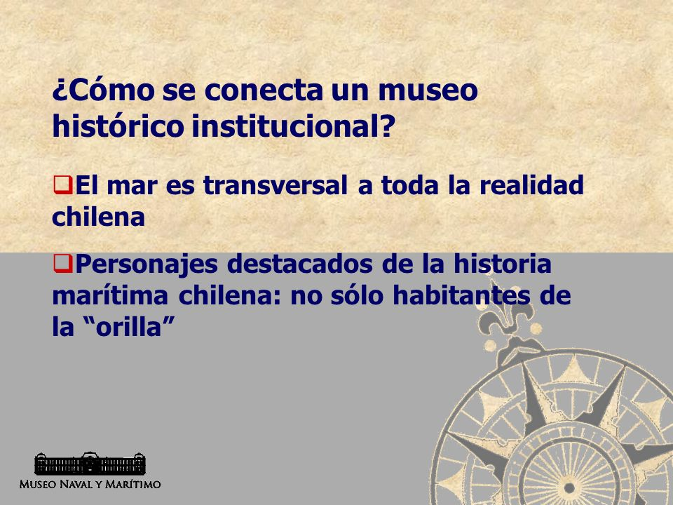 ¿Cómo se conecta un museo histórico institucional
