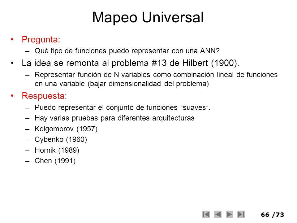 Mapeo Universal Pregunta: