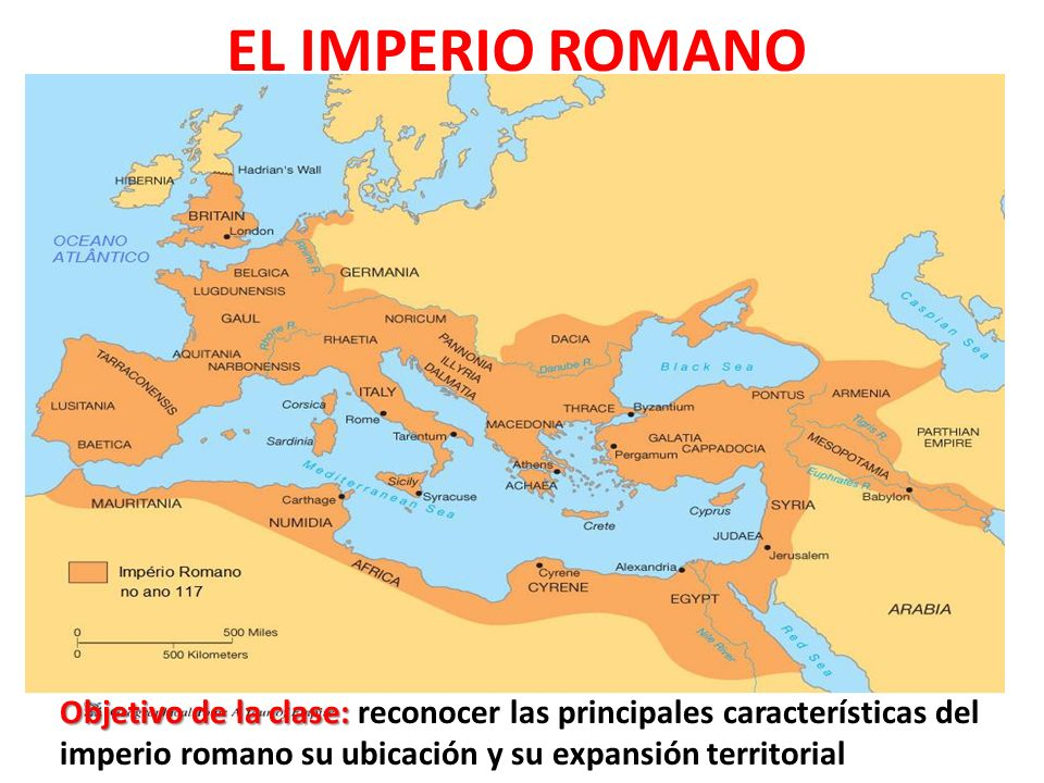 EL IMPERIO ROMANO Objetivo de la clase: reconocer las principales características del imperio romano su ubicación y su expansión territorial.