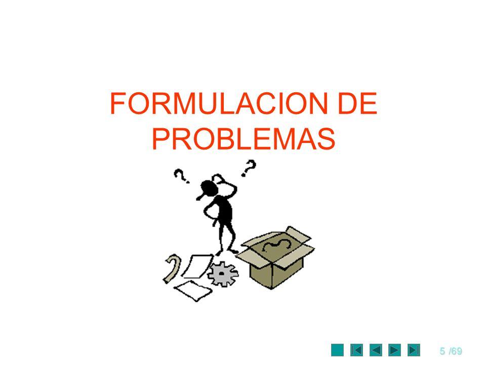 FORMULACION DE PROBLEMAS