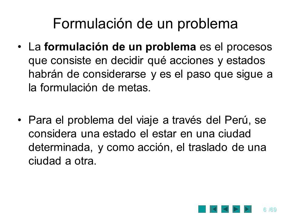 Formulación de un problema
