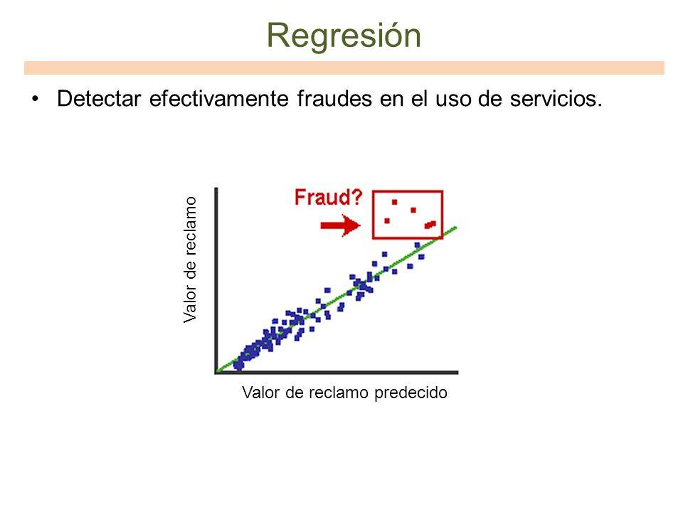 Regresión Detectar efectivamente fraudes en el uso de servicios.