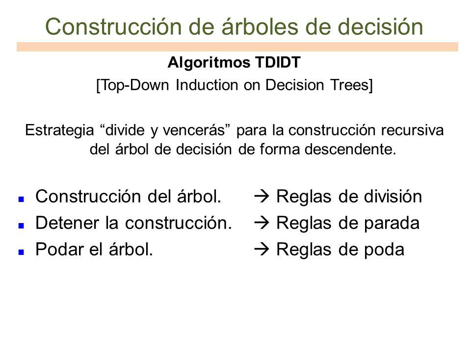 Construcción de árboles de decisión