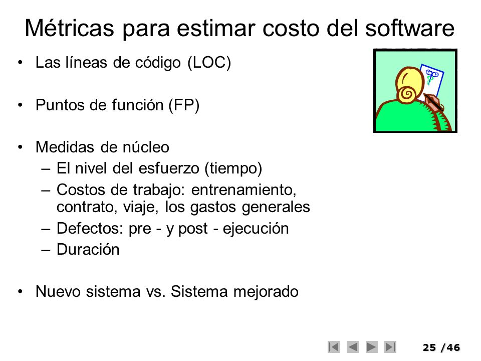 Métricas para estimar costo del software