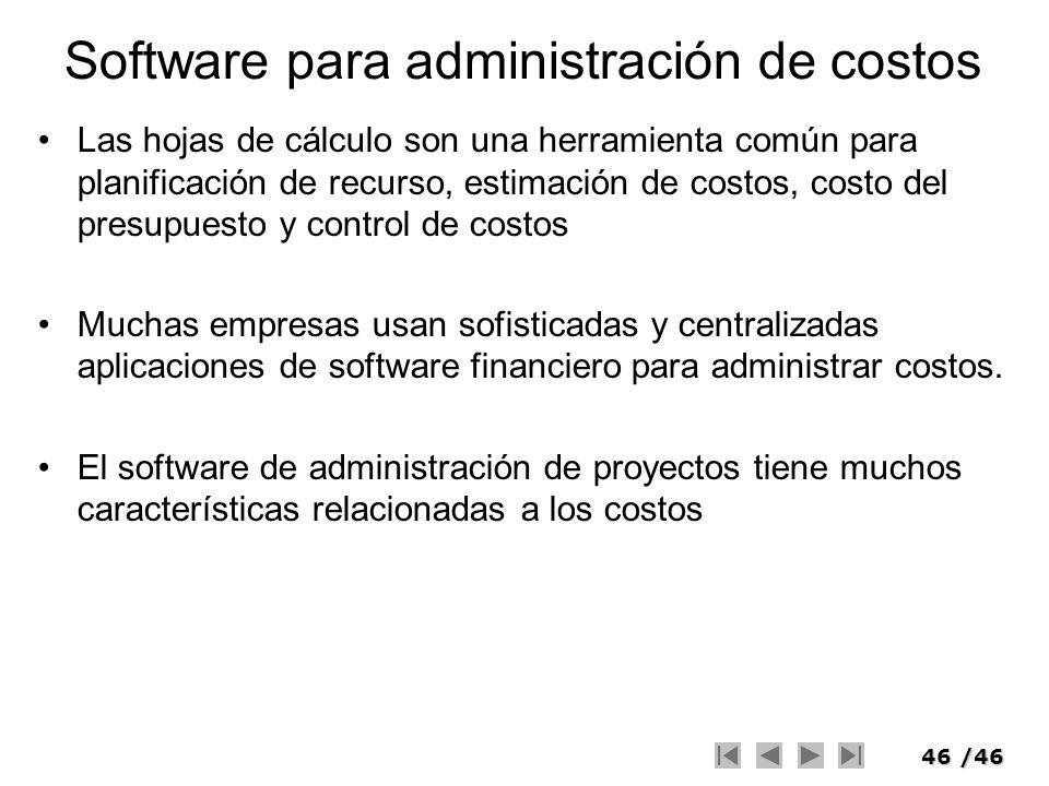 Software para administración de costos