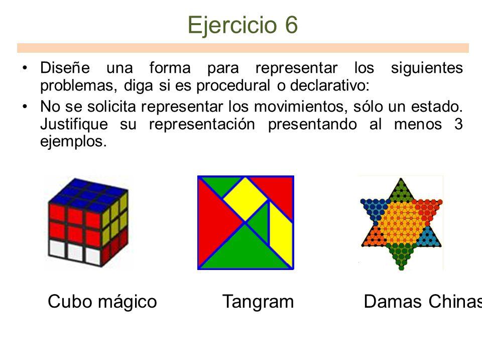 Ejercicio 6 Cubo mágico Tangram Damas Chinas