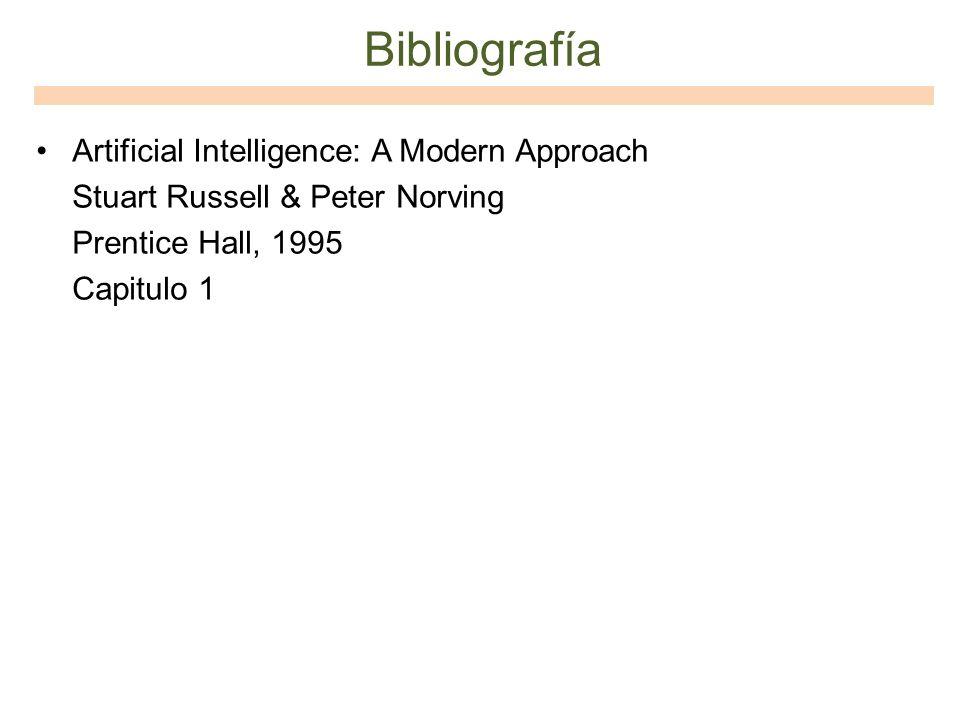 Bibliografía Artificial Intelligence: A Modern Approach