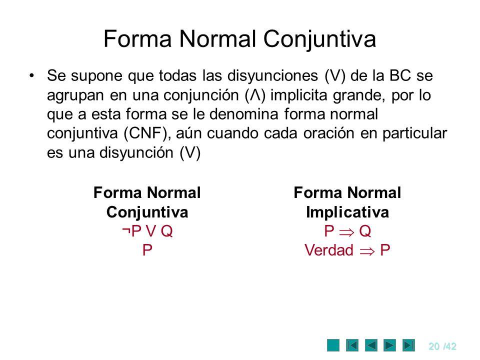 Forma Normal Conjuntiva