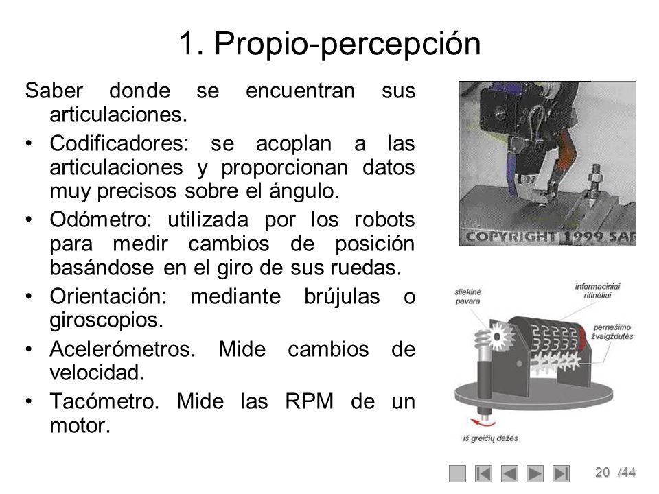 1. Propio-percepción Saber donde se encuentran sus articulaciones.