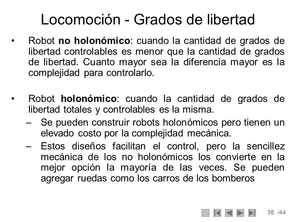 Locomoción - Grados de libertad