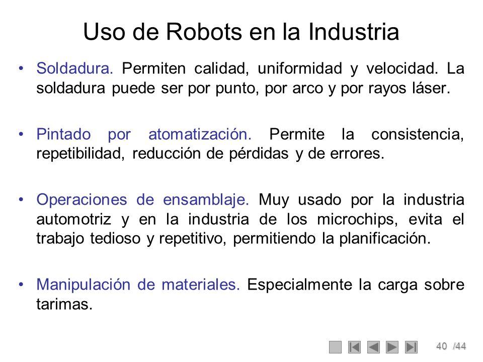 Uso de Robots en la Industria