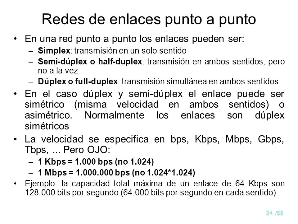 Redes de enlaces punto a punto
