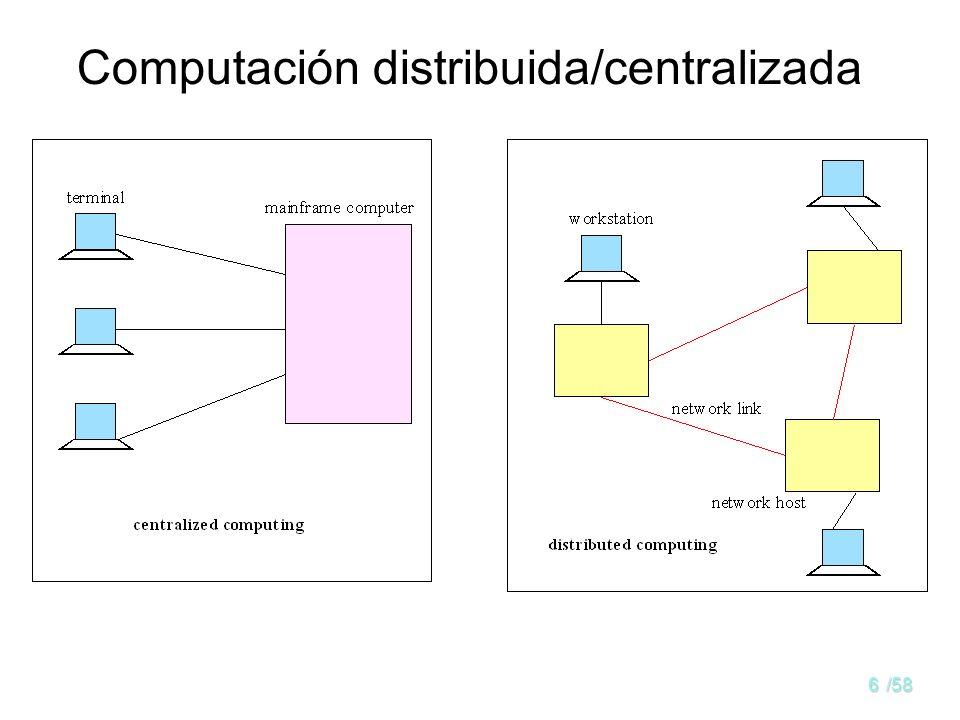 Computación distribuida/centralizada
