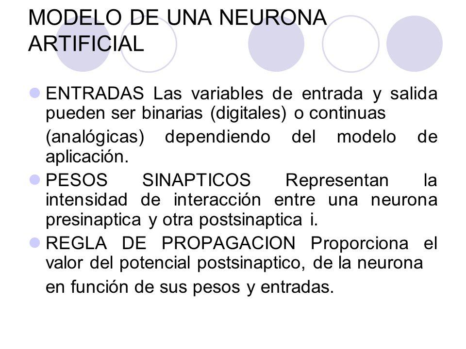 MODELO DE UNA NEURONA ARTIFICIAL