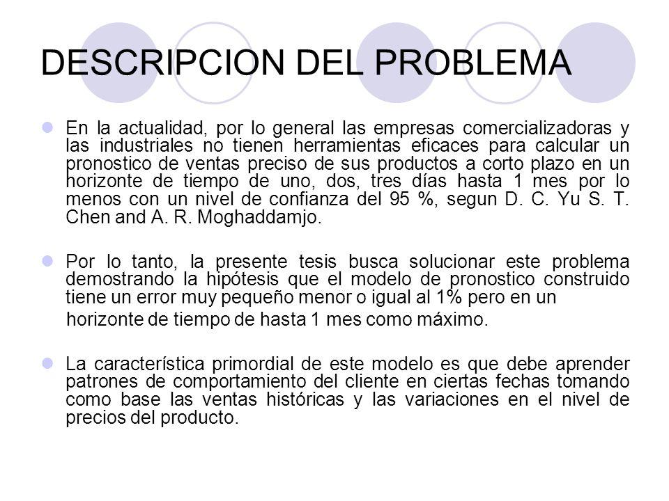 DESCRIPCION DEL PROBLEMA