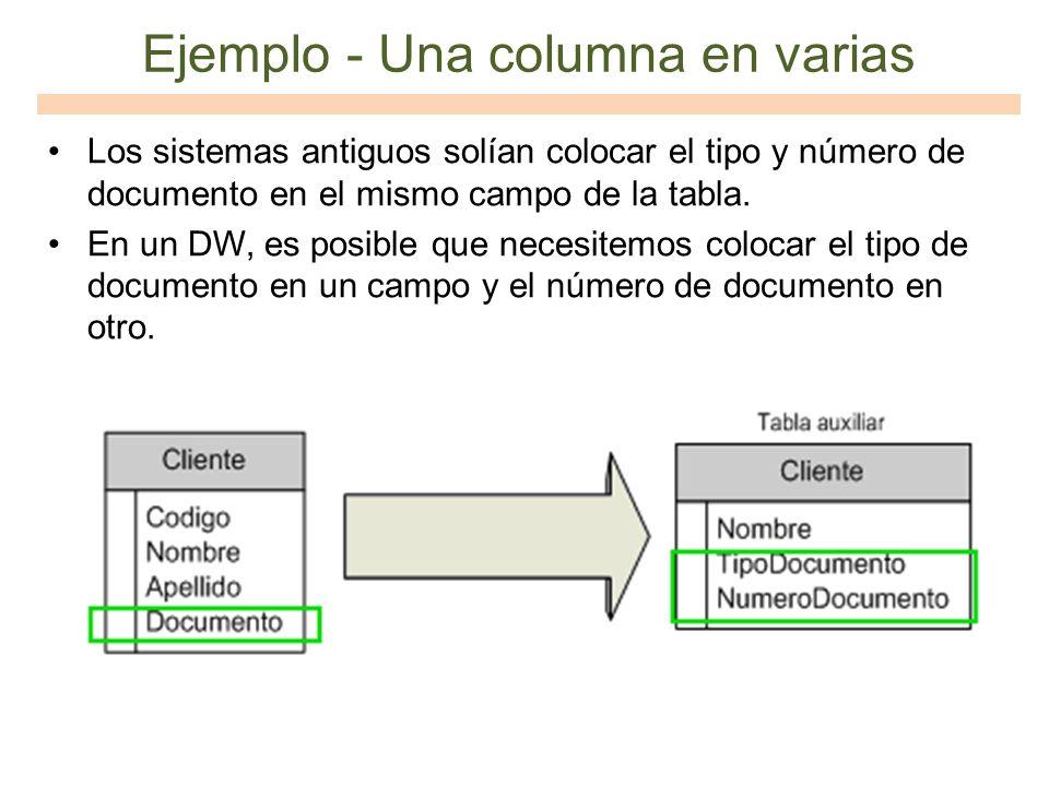 Ejemplo - Una columna en varias