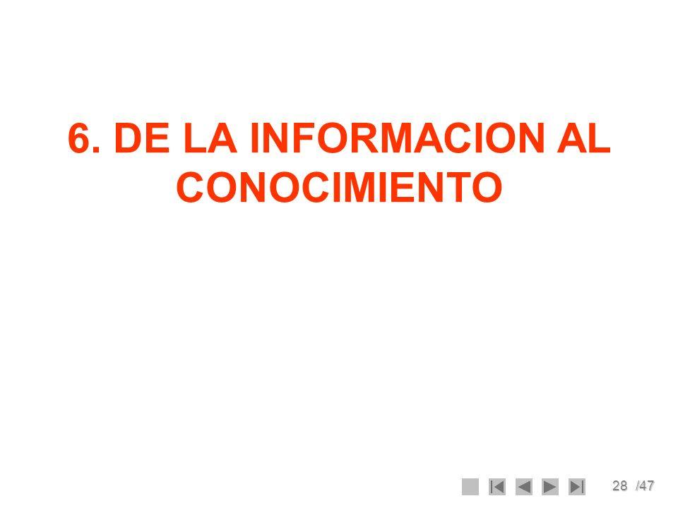 6. DE LA INFORMACION AL CONOCIMIENTO