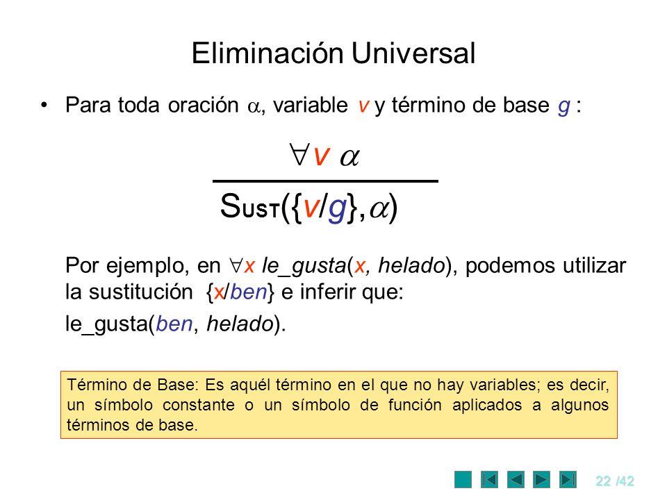 Eliminación Universal