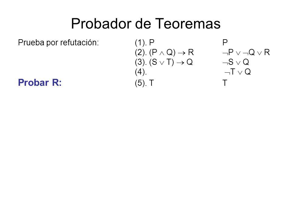 Probador de Teoremas Probar R: (5). T T