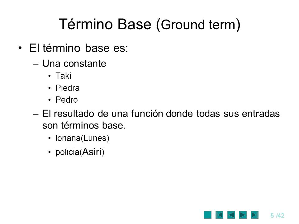 Término Base (Ground term)