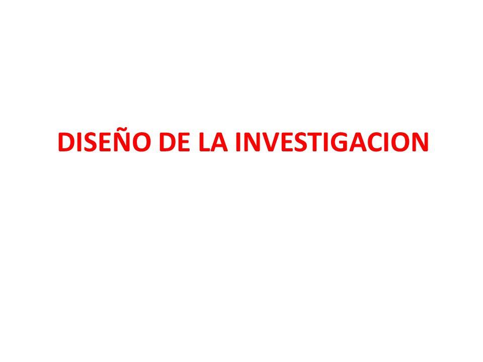 DISEÑO DE LA INVESTIGACION