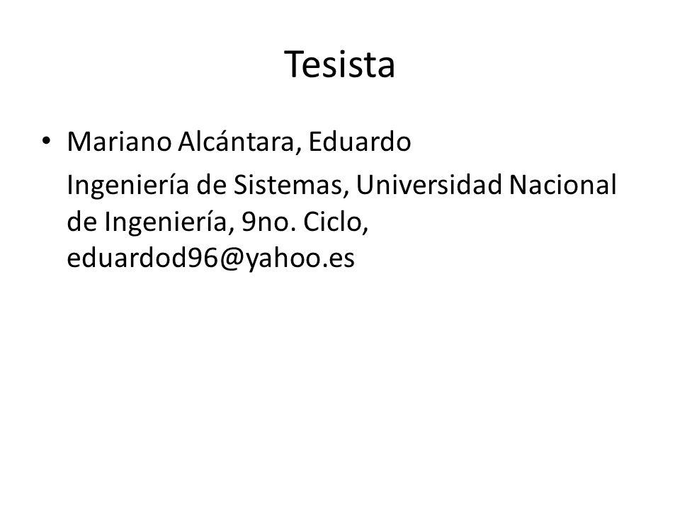 Tesista Mariano Alcántara, Eduardo