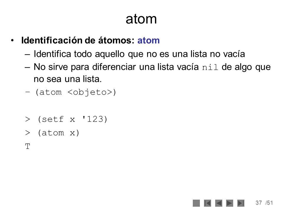 atom Identificación de átomos: atom