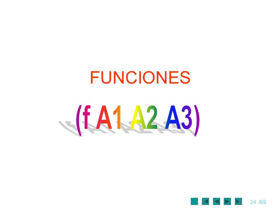 FUNCIONES (f A1 A2 A3)