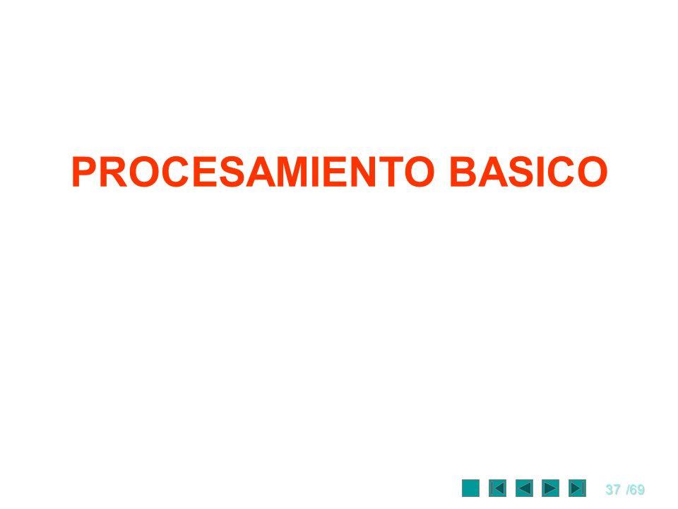 PROCESAMIENTO BASICO