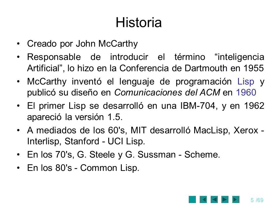 Historia Creado por John McCarthy