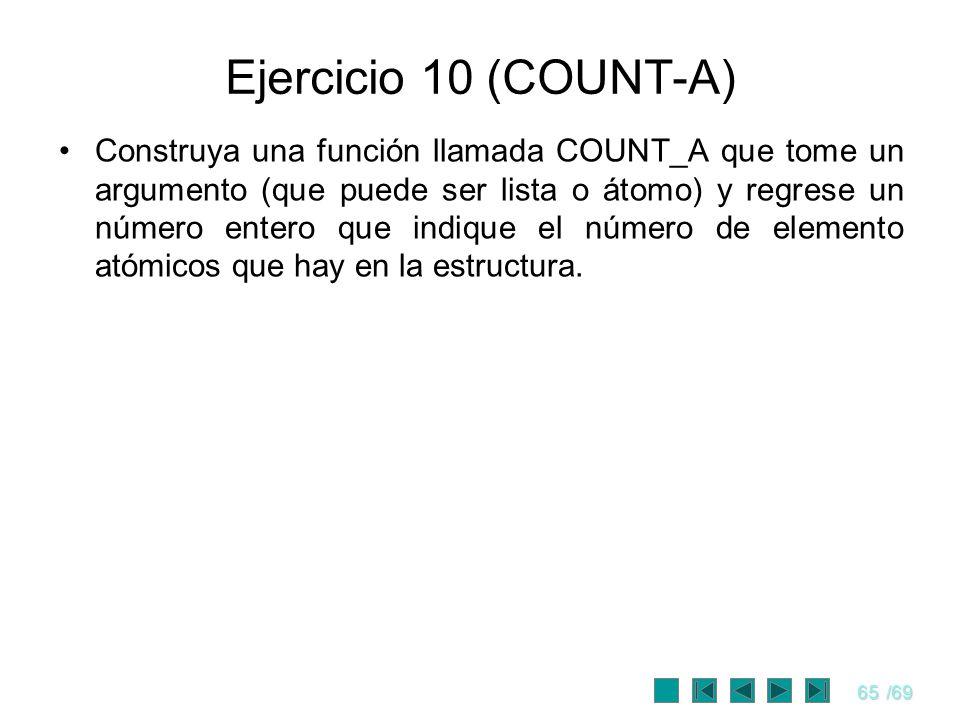 Ejercicio 10 (COUNT-A)