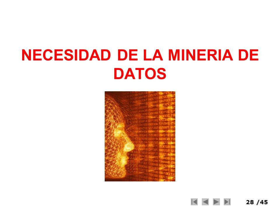 NECESIDAD DE LA MINERIA DE DATOS